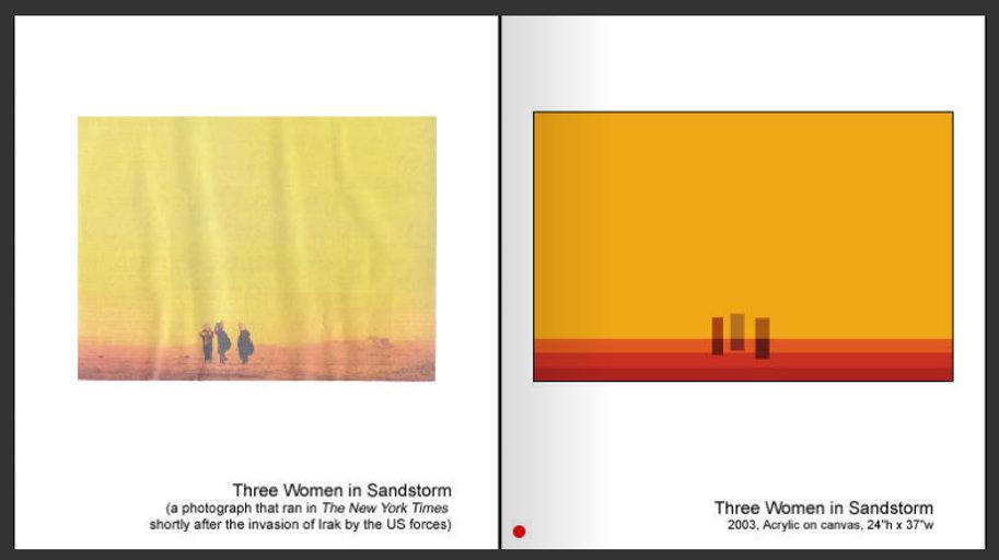Three Women in Sandstorm