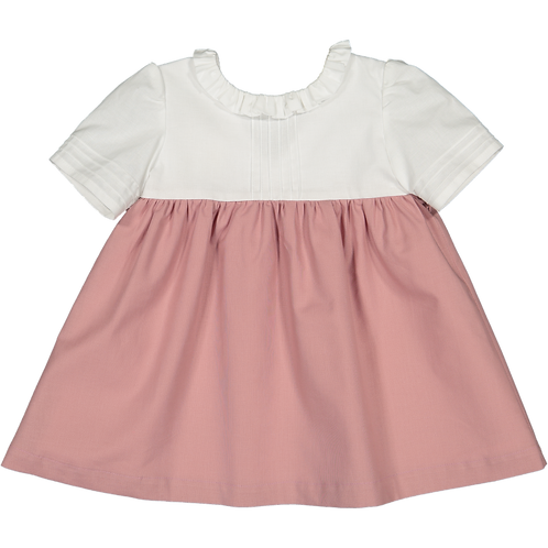 White and pink dress with 3/4 sleeve