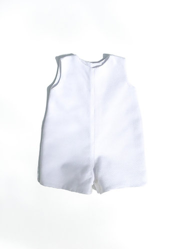 White piquet babyromper / Fofo de piquet branco