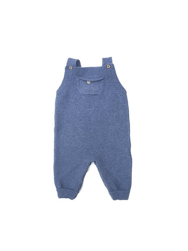 Blue Overalls pecesa with pocket /Jardineiras azuis pecesa bebe com bolso
