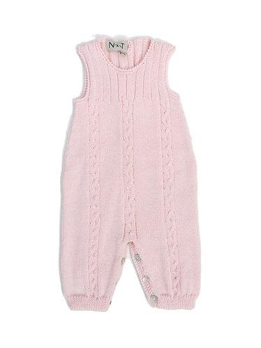 Pink Wool baby overalls/ Jardineiras cr  bebe de lã com torçido
