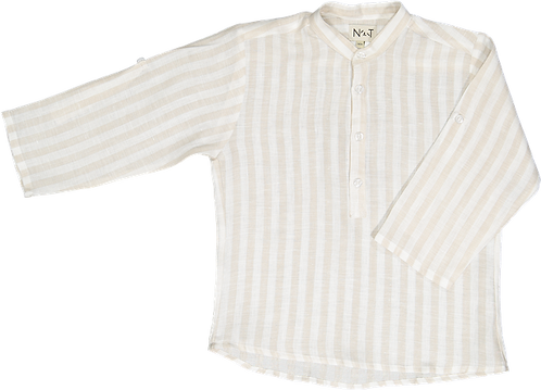 Cream stripes shirt/Túnica riscas bege