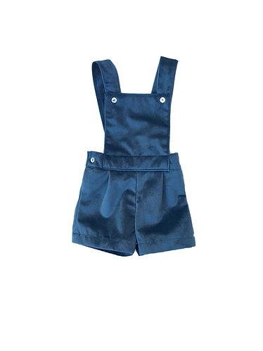 Velvet shorts oil with straps / Calções veludo petróleo com peitilho