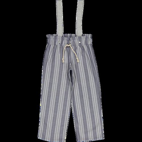 blue sripes trousers/ Calças riscas azuis