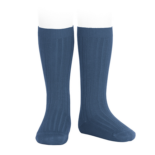 Colbat Knee high ribbed Socks/ Meias altas caneladas