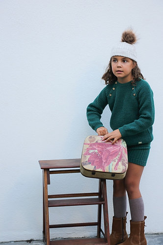 Green Knit sweater with buttons/ Camisola verde percesa com botões