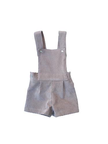 Beige shorts with straps / Calções beges com peitilho