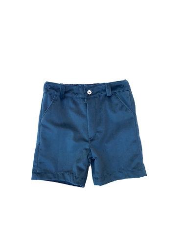 Velvet oil  shorts / Calções cintura veludo petróleo