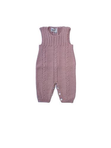 Nude Wool baby overalls/ Jardineiras nude bebe de lã com torçidos