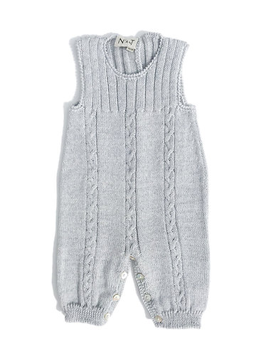 Grey Wool baby overalls/ Jardineiras bebe cinzento de lã com torçidos