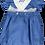 Thumbnail: Blue crossed strap romper/ Fofo azul alças cruzadas