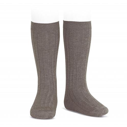 Trunk Knee high ribbed Socks/ Meias altas caneladas