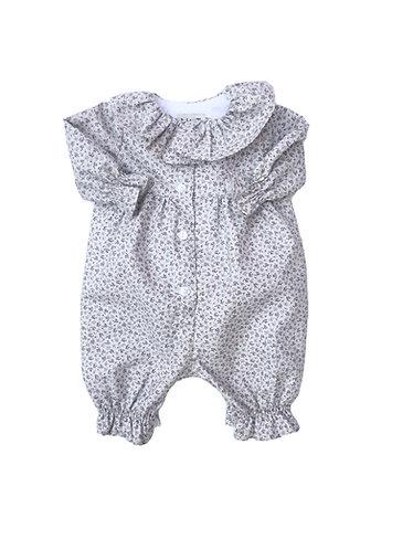 Baby small flowe overall/ Macacão florzinhas