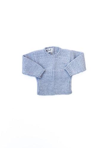Grey Wool baby ribbed jumper/ Camisola canelada cinzenta de lã bebe