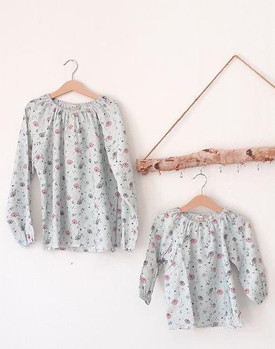 Flower raglan shirt/ Túnica raglan flores
