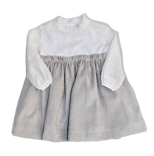 light grey plummetti dress/ Vestido cinzento claro plumetti