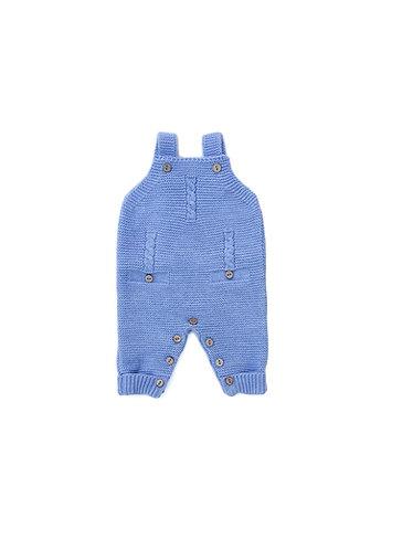 Blue Overalls 3 twist pecesa / Jardineiras azuis pecesa bebe 3 torçidos