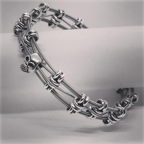Unisex Guitar String Skull Bracelet