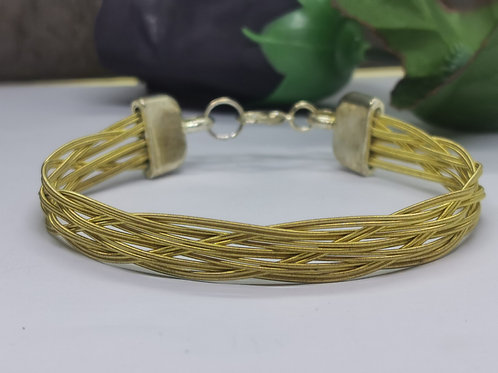 Acoustic Guitar String Weave Bracelet - Medium