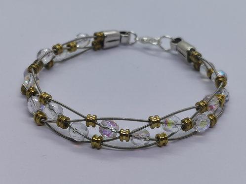 Crystal Guitar String Bracelet - medium