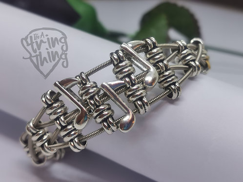 Music Notes Guitar String Bracelet