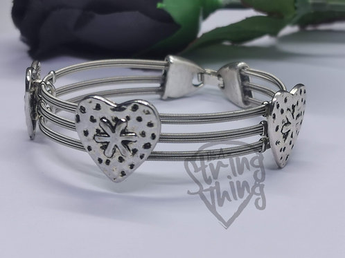 Heart Guitar String Bracelet