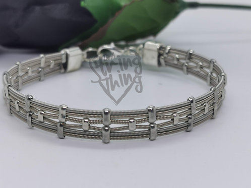 Unisex Guitar String Art Deco Style Bracelet