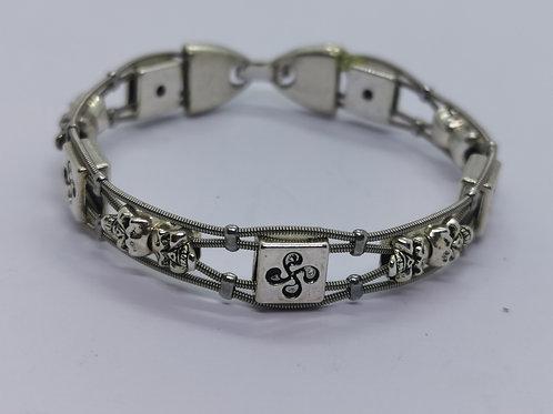Skull Guitar String Bracelet - small