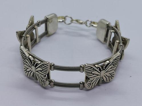 Chunky Butterfly Guitar String Bracelet - small