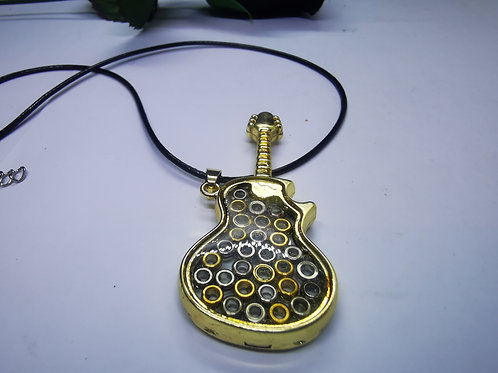 Guitar Shaped Ball End Pendant
