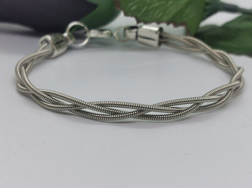 Skinny Braid Guitar String Bracelet