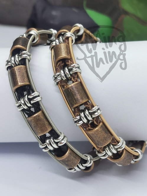 Leather Guitar String Bracelet - Choice
