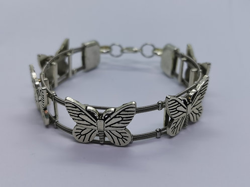 Chunky Butterfly Guitar String Bracelet - medium