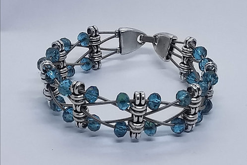 Crystal Guitar String Bracelet - medium