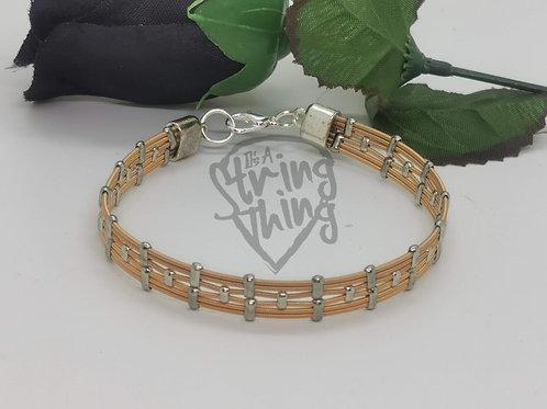 Acoustic Guitar String Art Deco Style Bracelet