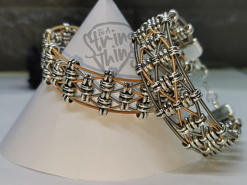 Mixed Guitar String Weave Bracelet