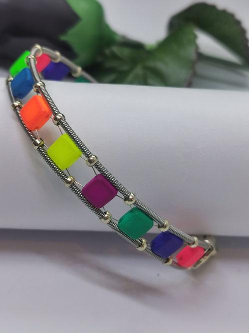 Guitar String UV Tile Bracelet - Medium