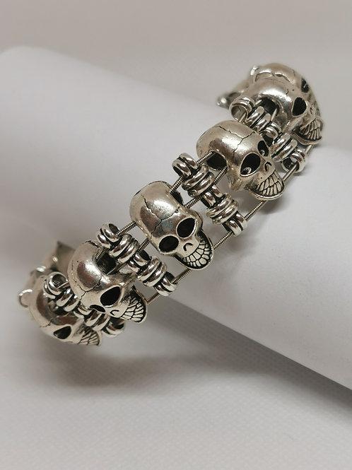 Chunky Skull Guitar String Bracelet