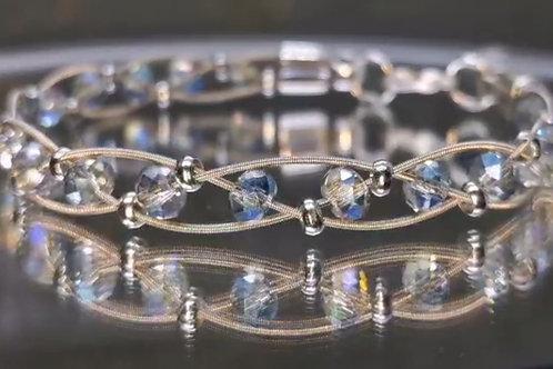 Aurora Crystal Guitar String Bracelet