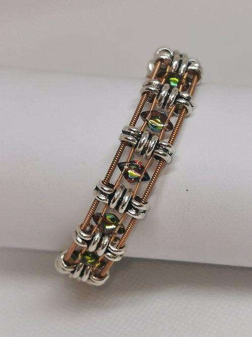 Glass Diamond Acoustic Guitar String Bracelet
