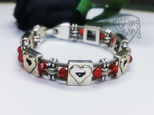 Valentine Love Heart Guitar String Bracelet