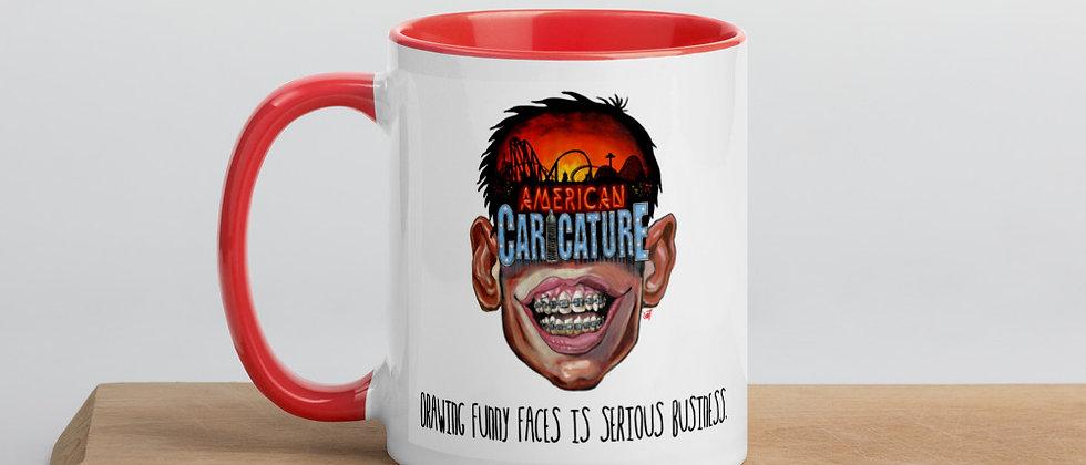 American Caricature Tagline Mug
