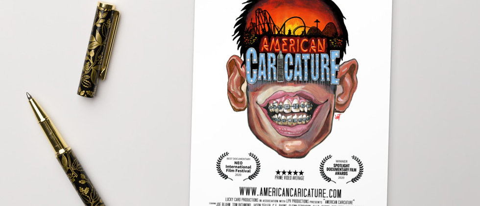 American Caricature Postcard Print
