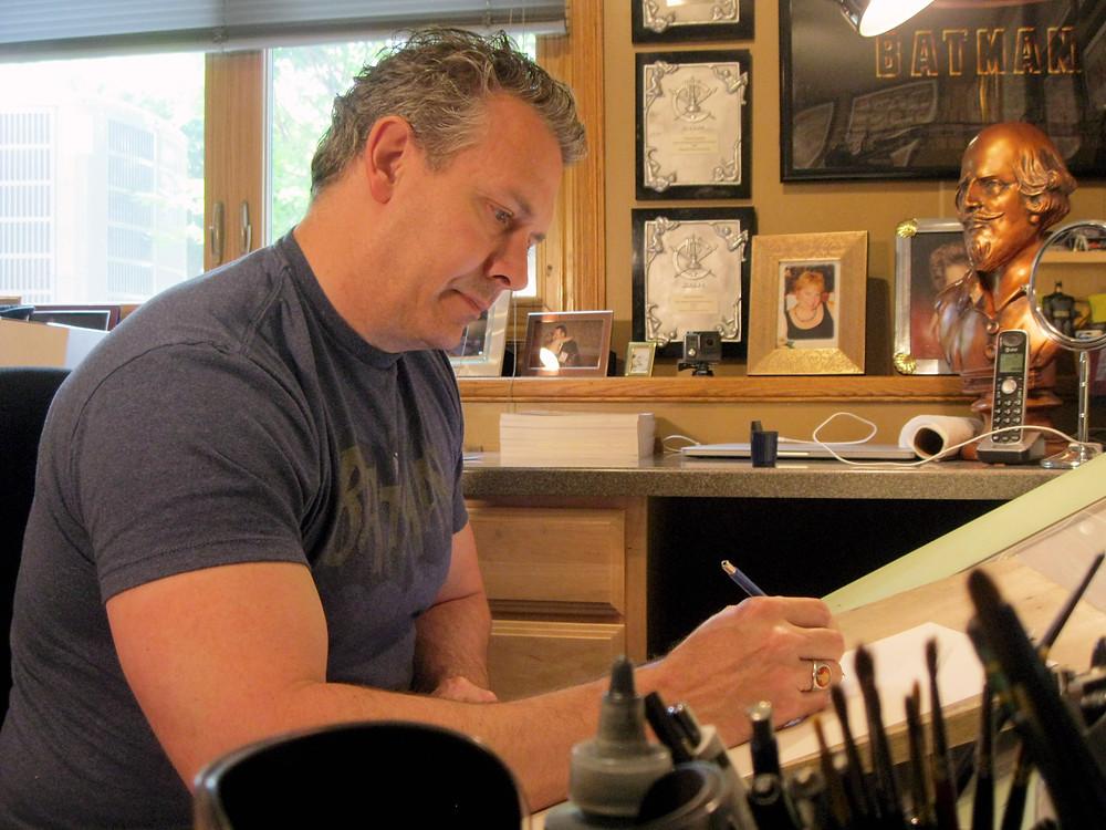 Tom Richmond in his studio.
