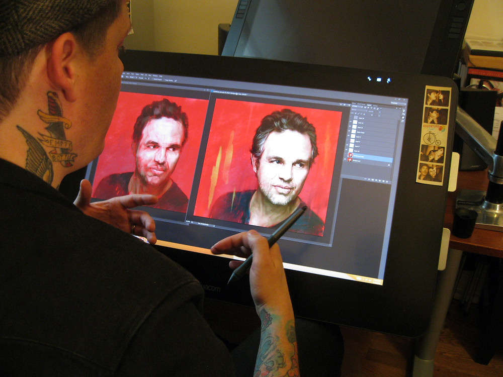 Jason Seiler shows us his initial sketch and the final painting.