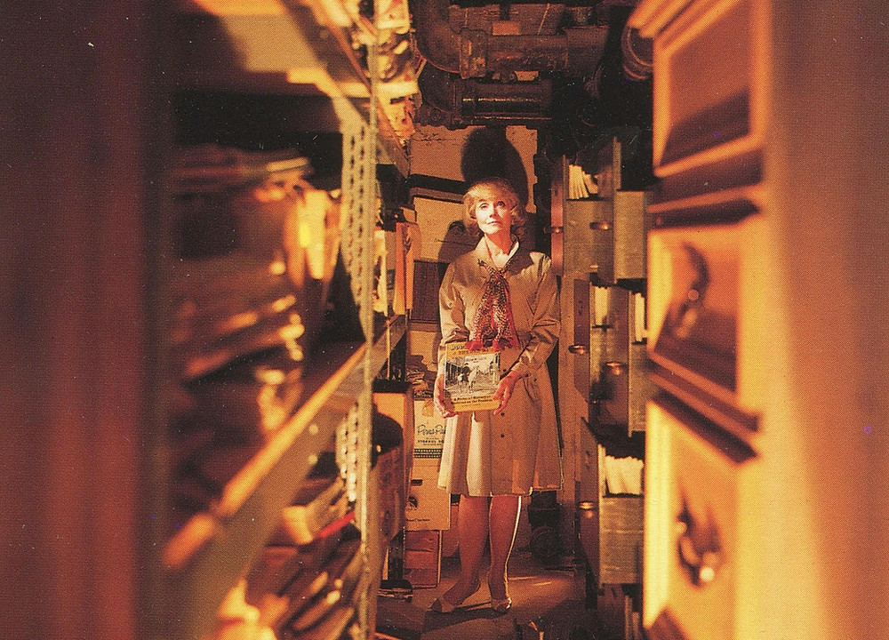 Lillian Michelson in the stacks of her Library
