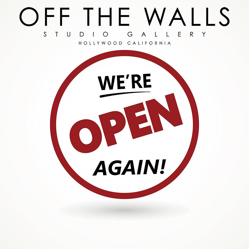 OTW Studio Gallery has re-opened for rental orders, art sales and custom framing.