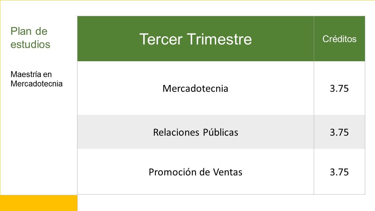 3er Trimestre