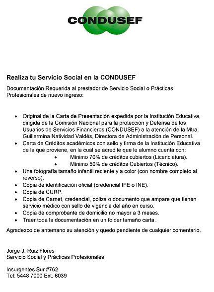 Realiza tu Servicio Social en la CONDUSE