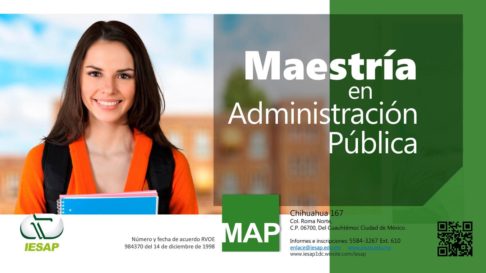 Maestría en Administración Pública